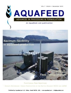 Protecting Shrimp from EMS Aquafeed Dec 2015 - A study was conducted to evaluate the survivability of shrimp fed MrFeed® when exposed to the pathogen responsible for causing Early Mortality Syndrome (EMS), Vibrio parahaemolyticus.