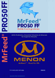 Menon Renewable Products Feed for Life MrFeed-PRO50FinFish-Bag